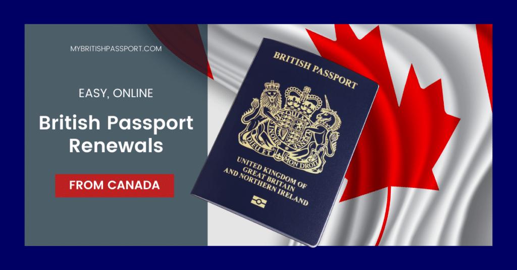 British passport renewals from Canada